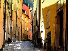 Stockholm - Street in Old Town, Gamla Stan by Olof S, via Flickr