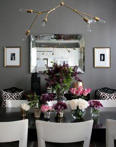 small shop anniversary chandelier, DIY Lindsey Adelman, dining room, flowers