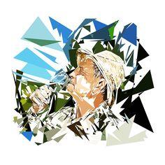 En savoir plus : http://www.pierretomyleboucher.fr  Héphaïstos : copropriétaire d'un domaine viticole Peinture numérique sur toile : format 84 × 84 cm