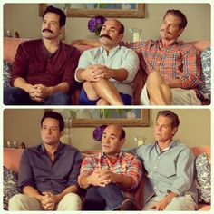 This is how guys with mustaches think - Cougar Town