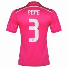 Pepe 3 14/15 Real Madrid Away Soccer Jersey shirt