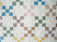 Quilt Irish Chain Quilt Table Cover Lap Quilt by belairevillage