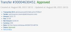 Here is my Withdrawal Proof from AdClickXpress. I get paid daily and I can withdraw daily. Online income is possible with ACX, who is definitely paying - no scam here. I WORK FROM HOME less than 10 minutes and I manage to cover my LOW SALARY INCOME. If you are a PASSIVE INCOME SEEKER, then AdClickXpress (Ad Click Xpress) is the best ONLINE OPPORTUNITY for you. Ask those who are earning extra money every month! Viewing websites is so easy! Get paid DAILY! $10 to start! Ad Click Xpress.This is…