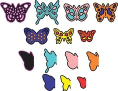 Mini Dimensional Butterflies with Angel Wings - $11.95  	 A new MINI set of butterflies WITH angel wings!!!  These minis are wonderful for decorating cards!  You can create your own dimensional look with different sizes.   Angel Wings provide a background to the butterfly die cuts or use them individually