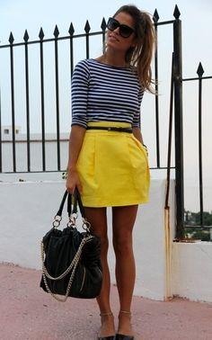 That skirt is so cute! #YellowSkirt #SummerFashion #OOTD