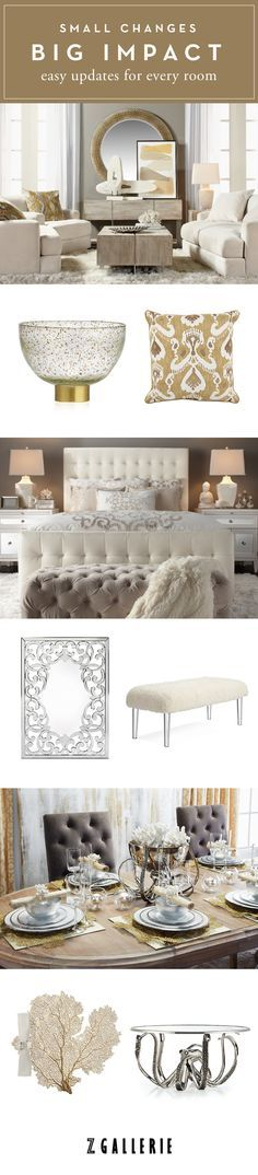 Get simple decorating tips for your living room, bedroom, and dining room now on zgallerie.com.