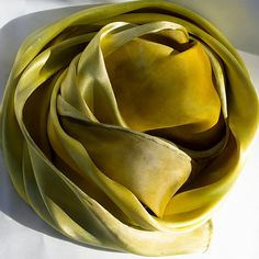 Solid Devore Satin Scarf Hand-dyed with Plants by earthsilks