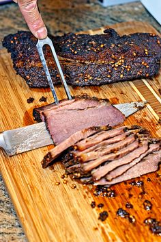 Smoked Brisket – Brined, Dry Rubbed and Cherry Wood Smoked. www.keviniscooking.com