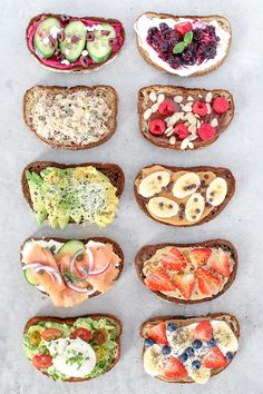 10 healthy and easy toast creations from avocado to New York style, made with simple mouthwatering ingredients, perfect for breakfast, lunch and even dinner! dinner ideas easy healthy Toast Ten Ways Healthy Drinks, Healthy Snacks, Healthy Recipes, Nutrition Drinks, Nutrition Diet, Holistic Nutrition, Healthy Yogurt, Healthy Protein, Nutrition Guide