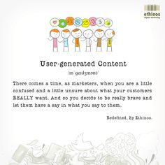 User-generated content takes a pivotal role when you adapt to the better standards of content marketing. Here's our redefined take on it. Feel free to share your version of it. 