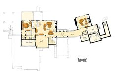 Contemporary Modern Lower Level of Plan 43226