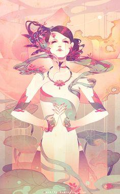 Lotus by Dark134.deviantart.com on @DeviantArt