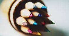 Free Colored Pencil In Tilt Shift Lens Photo Close Up, Tilt Shift Lens, Tilt Shift Photography, Art Basics, Craft Free, Color Psychology, Pink Nikes, Saturated Color, Drawing Tools