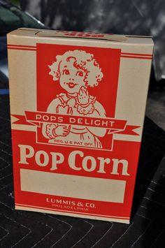 NOS & Original Pops Delight Pop Corn Box  by AdvertisingCollector