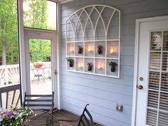 I upcycled a window insert and made my porch stinkin' cute! Recycled Windows, Window Inserts, Mason Jar Projects, Painted Mason Jars, Porch, Recycling, Inspirational, Crafty, Creative