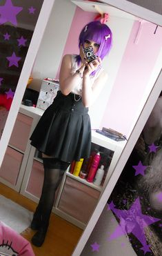 Not a pastel goth girl but she is so adorable and I love her hair! Pastel Goth Outfits, Pastel Goth Fashion, Dark Fashion, Kawaii Fashion, Lolita Fashion, Cute Fashion, Gothic Fashion, Asian Fashion, Pastel Goth Style