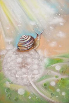 Cute Animal Illustration, Book Illustration, Animal Illustrations, Snail Cartoon, Flower Fairies, Comic, Watercolor Techniques, Pretty Pictures, Pencil Drawings