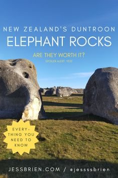 Hidden away in a small South Island town of Duntroon are the Elephant Rocks. Are they worth the stop? Spoiler alert: yes! New Zealand Travel, South Island, Rocks, Elephant, News, Blog, Stone, Elephants, Stones