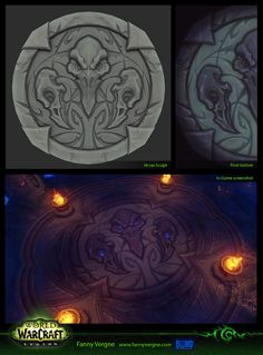 ArtStation - BlackRook Hold Dungeon - Boss floor texture - Legion, World of Warcraft, Fanny Vergne