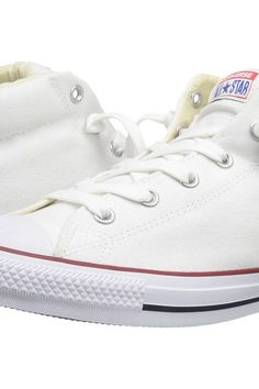 Converse Chuck Taylor All Star Street Core Canvas Mid (White/Natural/White) Lace up casual Shoes - Converse, Chuck Taylor All Star Street Core Canvas Mid, 149546F-100, Footwear Closed Lace up casual, Lace up casual, Closed Footwear, Footwear, Shoes, Gift, - Street Fashion And Style Ideas