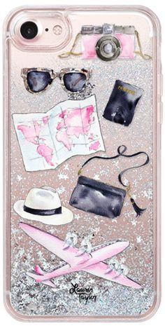 Casetify iPhone 7 Glitter Case - Voyage (Semi-Transparent) by Lauren Taylor Creates  #Casetify