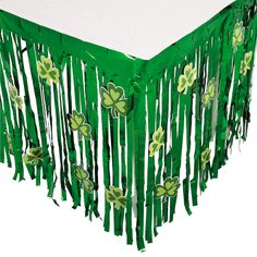 St. Patricks Day Table Skirt With Cutouts - OrientalTrading.com