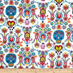 Alexander Henry Folklorico Calaveras Del Mar Natural Fabric