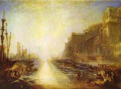 Regulus by Turner - Pendergast's favorite painting by Joseph Mallord William Turner. References to the life and honor of Regulus is made by Count Fosco when Pendergast is in his clutches in the bowels of his castle. The Diogenes Trilogy Joseph Mallord William Turner, Art Romantique, Turner Painting, Joseph Williams, Tate Gallery, Watercolor Landscape Paintings, London Art, Tate London, London 2016