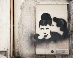 "Paris Photography, ""Graffiti, Kiss"" French Art Print / Nichole Robertson"