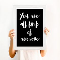 You Are All Kinds of Awesome Typographic Nursery by EllaandTheRoo