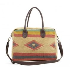 Lukka Tribal Briefcase This would be a great use for a small Mexican rug! Look Fashion, Fashion Bags, Fashion Accessories, Fashion Trends, Tribal Fashion, High Fashion, Womens Fashion, Summer Essentials, Tie Dye