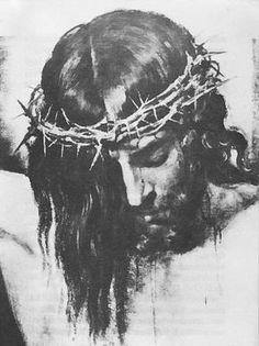 Jesus with crown thorns silhouette Jesus Tattoo, Christus Tattoo, Jesus Drawings, Jesus Our Savior, King Jesus, Jesus Face, Prophetic Art, Crown Of Thorns, Jesus Pictures