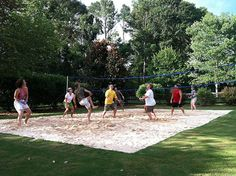 volleyball court in backyard i would love one of these