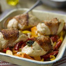 Gefüllte Hähnchenbrust mit Paprika und Spinat PP 6