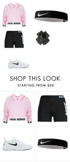"""la bella ragazza che continuava"" by thattaurusnamedanii ❤ liked on Polyvore featuring Local Heroes, NIKE and Black"