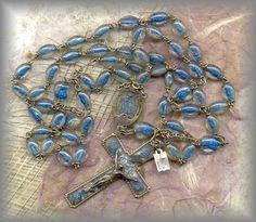 Rosary Workshop: Museum - 20c Lucite Lourdes Rosary
