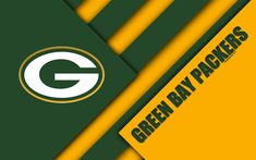 Download wallpapers Green Bay Packers, 4k, logo, NFC North, NFL, green yellow abstraction, material design, American football, Green Bay, Wisconsin, USA, National Football League