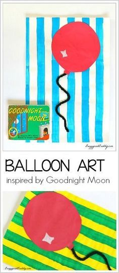 Balloon Art Activity for Kids inspired by Goodnight Moon- perfect for preschool and kindergarten! ~ http://BuggyandBuddy.com