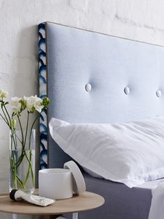 New bedroom furniture diy head boards pillows ideas Headboards For Beds, Bedroom Interior, Modern Headboard, Bedroom Diy, Diy Furniture Bedroom, Personalized Bedding, Upholstered Bedhead, Headboard, Trendy Bedroom