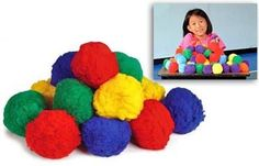 Brightly Colored Fluffballs, 90mm by School Specialty. $30.45. Use these soft, light and wonderful Colored FluffBalls for a completely integrated physical/cognitive educational experience. The 6 colors are a perfect tool for classroom organization, as well as teaching your younger students about color. Teach primary and secondary colors, blending colors together, etc. Colored FluffBalls come in a package of 36 each in 6 different colors: red, yellow, green, aq...