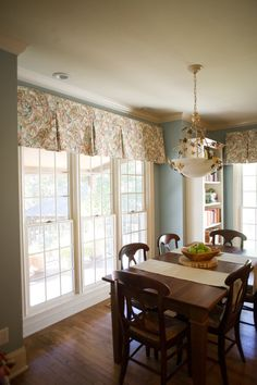 Dining Space Accompanied With Custom Window Treatments U0026 Wood Furniture |  Cossart Design | Perry,