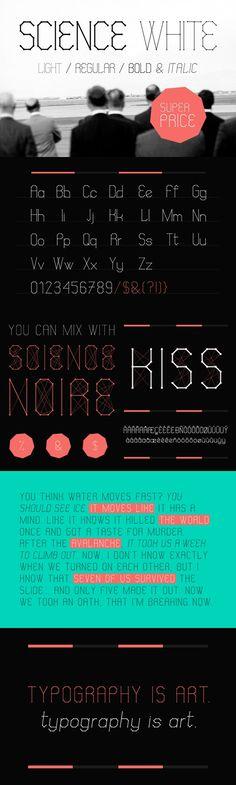 Science White. Sans Serif Fonts. $18.00