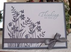 Stampin' Up Just Believe.  Beautiful monochromatic card.