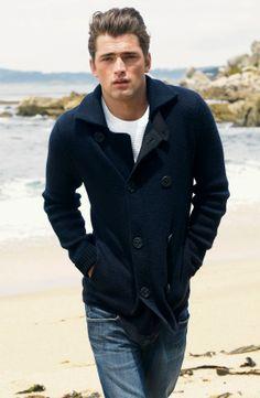 Mens navy blue coat