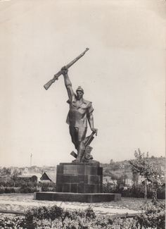 Husinski rudar. Spomenik. #Tuzla Postcard Ansichtskarte Razglednica. #Bosnia and Herzegovina