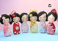 Kokeshis ♡ by Hey Girl! - Erica Catherine, via Flickr