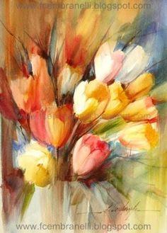 Tulips IV/ Tulipas IV, painting by artist Fabio Cembranelli