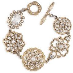 Bracelets | Antique Lace Ornate | Carolee.com Jewelry ($95) ❤ liked on Polyvore