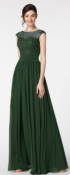 Forest green modest formal dresses plus size evening dresses