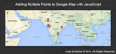 Adding Multiple Points to Google Map with JavaScript